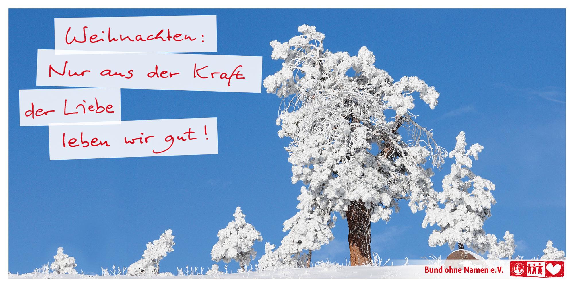 Weihnachten: Nur aus der Kraft der Liebe leben wir gut!